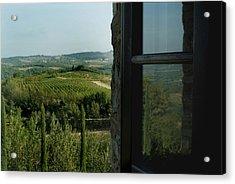 Vineyards Of Chianti Viewed Acrylic Print