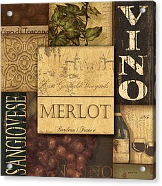 Vino Collage Acrylic Print
