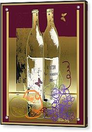 Vin, Fruit, Et Papillons Acrylic Print