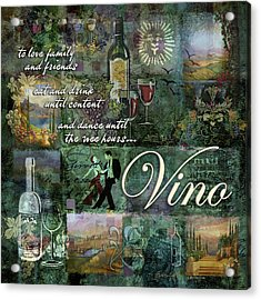 Vino Acrylic Print by Evie Cook