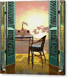 Vino Rosso Al Tramonto Acrylic Print