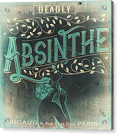 Vintage Absinthe Label Acrylic Print by Mindy Sommers