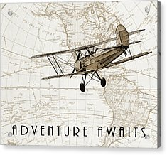 Vintage Adventure Acrylic Print by Delphimages Photo Creations
