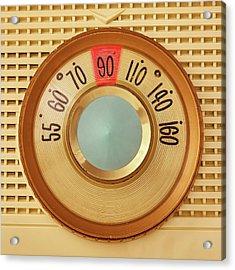 Vintage Am Radio Dial Acrylic Print by Jim Hughes