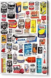 Vintage American Brands Acrylic Print