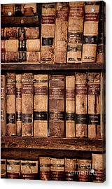 Acrylic Print featuring the photograph Vintage American Law Books by Jill Battaglia