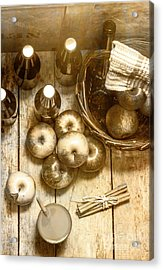 Vintage Apple Cider On Wood Crate Acrylic Print by Jorgo Photography - Wall Art Gallery