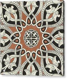 Vintage Arabian Textile Pattern Design Acrylic Print
