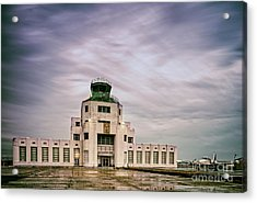 Vintage Architectural Photograph Of The 1940 Air Terminual Museum - Hobby Airport Houston Texas Acrylic Print