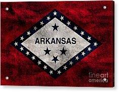 Vintage Arkansas Flag Acrylic Print by Jon Neidert