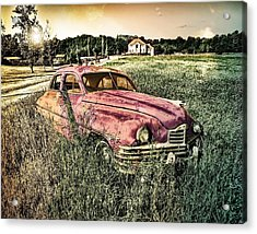 Vintage Auto In A Field Acrylic Print