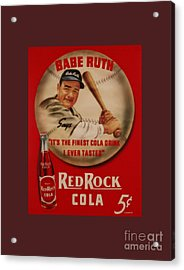Vintage Babe Ruth Commercial Art Acrylic Print by Pd