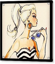 Vintage Barbie Sketch #awesome #barbie Acrylic Print