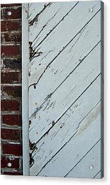 Vintage Barn Door And Red Brick Acrylic Print