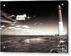 Vintage Barnegat Lighthouse Acrylic Print by John Rizzuto