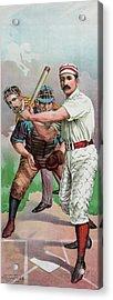 Vintage Baseball Card Acrylic Print
