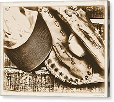 Vintage Baseball Acrylic Print by Jimmy Ostgard