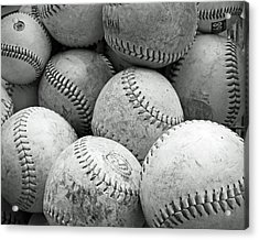 Acrylic Print featuring the photograph Vintage Baseballs by Brooke T Ryan