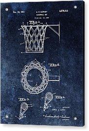 Vintage Basketball Net Patent Acrylic Print