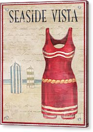 Vintage Bathing Suits II Acrylic Print by Paul Brent