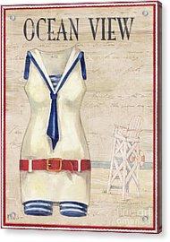 Vintage Bathing Suits IIi Acrylic Print by Paul Brent