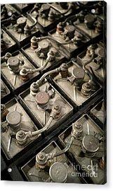 Vintage Battery Cells Acrylic Print by Edward Fielding