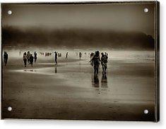 Vintage Beach Walk Acrylic Print by David Patterson