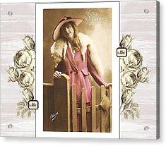 Vintage Beauty Acrylic Print