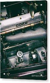 Vintage Bentley Engine Acrylic Print by Tim Gainey