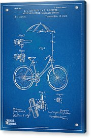 Vintage Bicycle Parasol Patent Artwork 1896 Acrylic Print by Nikki Marie Smith