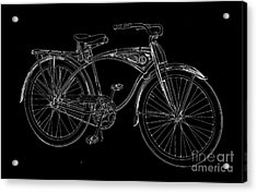 Vintage Bicycle Tee Acrylic Print by Edward Fielding