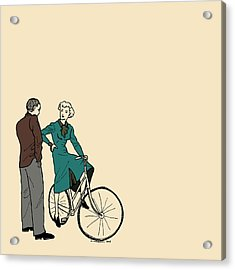 Vintage Bike Couple Acrylic Print by Karl Addison