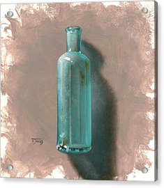 Vintage Blue Bottle Acrylic Print by Timothy Jones