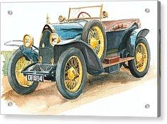 Vintage Blue Bugatti Classic Car Acrylic Print