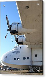 Vintage Boac British Overseas Airways Corporation Speedbird Flying Boat . 7d11289 Acrylic Print by Wingsdomain Art and Photography