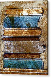 Vintage Book Stack Acrylic Print by Frank Tschakert