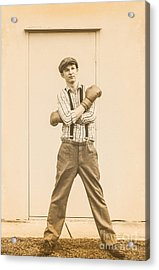 Vintage Boxer Ready For Action Acrylic Print