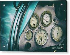 Vintage Bugatti Instruments Acrylic Print by Tim Gainey