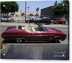 Vintage Buick Skylark. Dark-red Acrylic Print by Sofia Metal Queen
