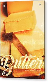 Vintage Butter Advertising. Kitchen Art Acrylic Print