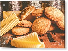 Vintage Butter Shortbread Biscuits Acrylic Print
