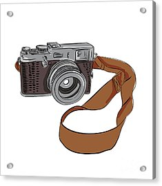Vintage Camera Drawing Isolated Acrylic Print