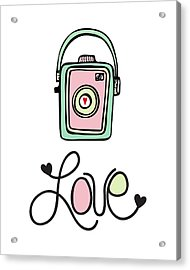 Vintage Camera Love Acrylic Print by Colleen VT