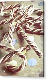 Vintage Candy Canes Acrylic Print