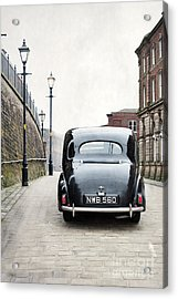 Acrylic Print featuring the photograph Vintage Car On A Cobbled Street by Lee Avison