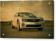 Vintage Chevrolet Camaro Acrylic Print by Design Turnpike