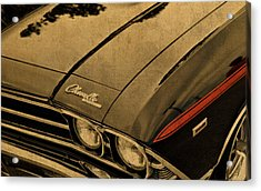 Vintage Chevrolet Chevelle Hood Acrylic Print by Design Turnpike