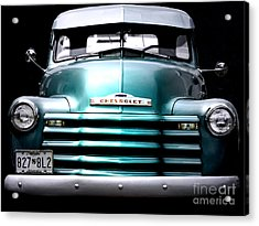 Vintage Chevy 3100 Pickup Truck Acrylic Print by Steven Digman