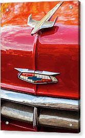 Acrylic Print featuring the photograph Vintage Chevy Hood Ornament Havana Cuba by Charles Harden