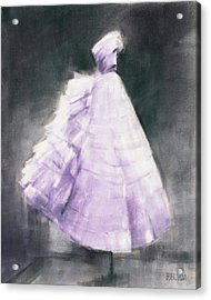 Vintage Chic Lavender And Gray Acrylic Print by Beverly Brown
